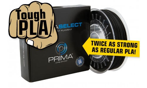 PrimaSELECT - PLA Tough - Filament - 1.75mm - 750g - Schwarz