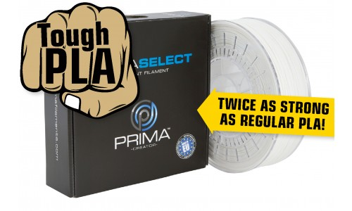 PrimaSELECT - PLA Tough - Filament - 1.75mm - 750g - Weiss