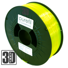 purefil of Switzerland - PETG Filament - 1.75mm - Gelb Transparent - 1000g