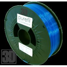 purefil of Switzerland - PETG Filament - 1.75mm - Blau Transparent - 1000g
