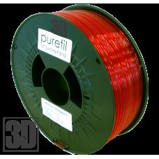 purefil of Switzerland - PETG Filament - 1.75mm - Rot Transparent - 1000g