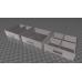 Schubladenblock für 5 Schubladen - inkl 3 verschiedenen Schubladen Modellen